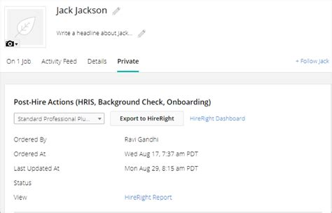 Hireright Background Check Status Completed I Use Hireright What Does The Integration Look Like How Do I Enable It