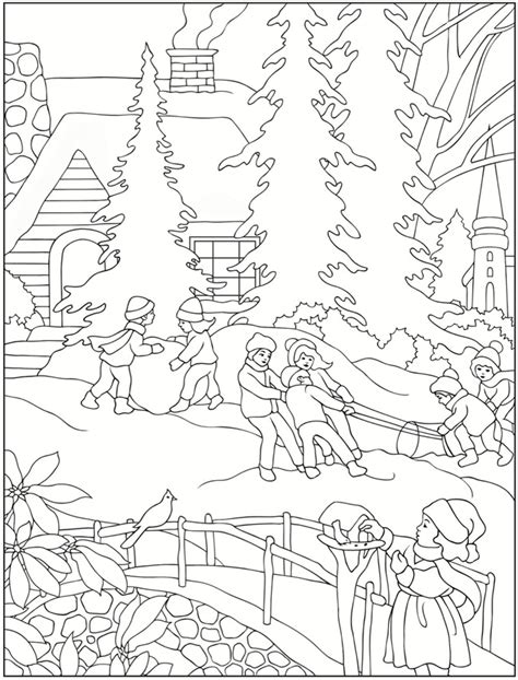 free coloring pages winter scenes free winter scenes coloring pages