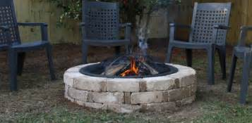 Firepit In Backyard How To Build A Backyard Pit From A Kit Today S Homeowner