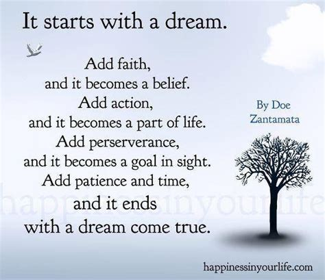 a dream come true my dream quotes and poems quotesgram