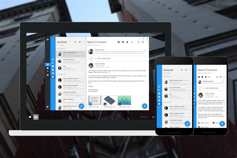 design apps for windows 10 app mail de windows 10 mobile con material design