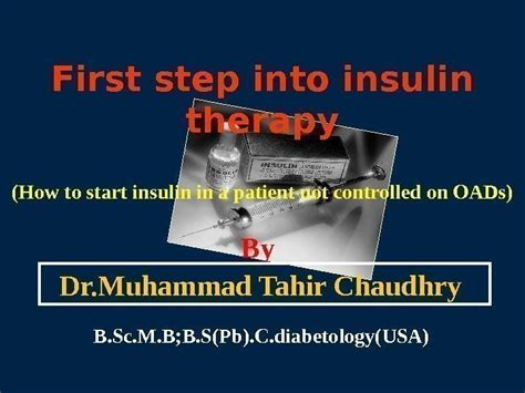 how to get into therapy step into insulin therapy how to start