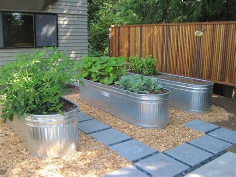 galvanized raised garden bed 18 unimaginable galvanized tub uses in the garden