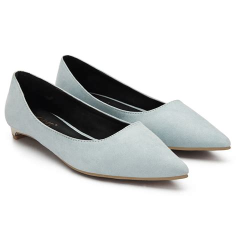 blue suede flat shoes light blue suede pointed toe flat shoes us 27 95 yoins