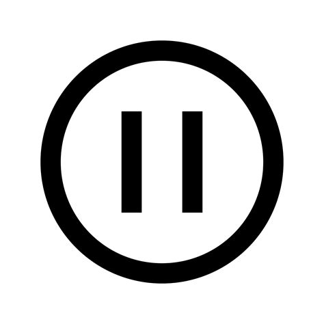 Pause The pause symbol transparent www pixshark images