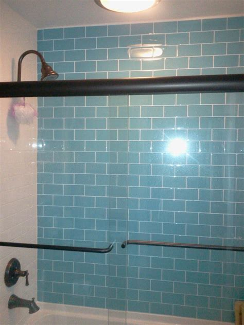 turquoise tile bathroom loft turquoise polished 3 quot x 6 quot glass tiles shop glass tiles at glasstilestore com