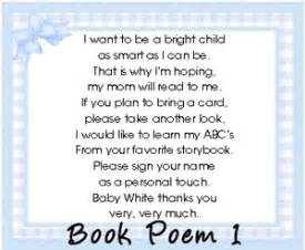 baby shower book poem instead of card baby shower book instead of card poem baby