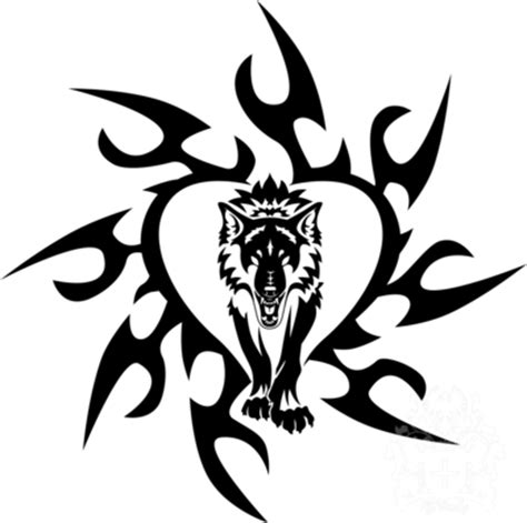 tribal wolf heart by hitenshi16 on deviantart