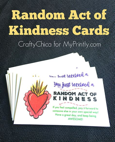 Random Acts Of Kindness Cards Templates by Random Act Of Kindness Cards Myprintly
