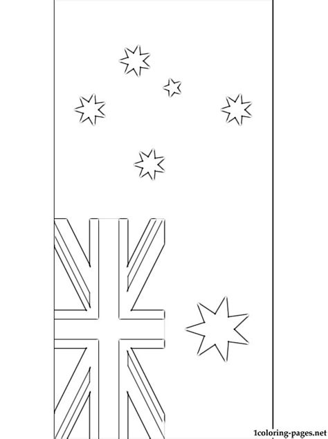 Australian Flag Coloring Page Coloring Pages Australian Flag Colouring Page