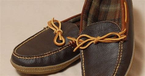 ll bean mens slippers ll bean men s moccasins c leather slippers shoes plaid