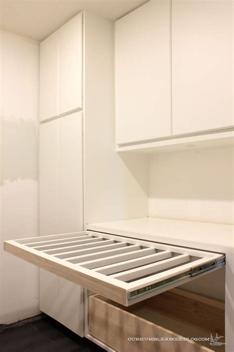 Basement Laundry Room Pull Out Drying Rack Slide Out Laundry