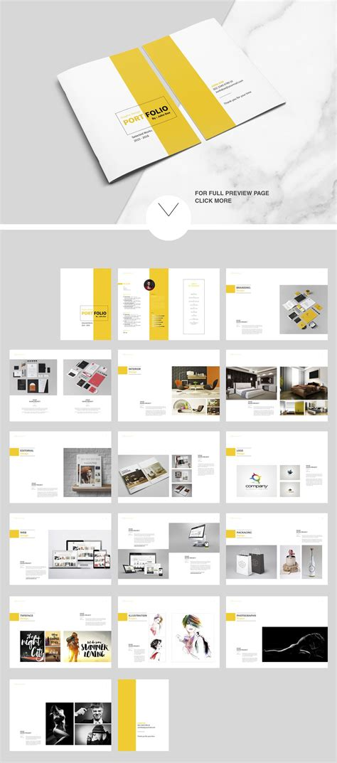 Indesign Portfolio Brochure Vol 2 By Tujuhbenua On Creativemarket Magazine Templates Graphic Design Portfolio Template Indesign