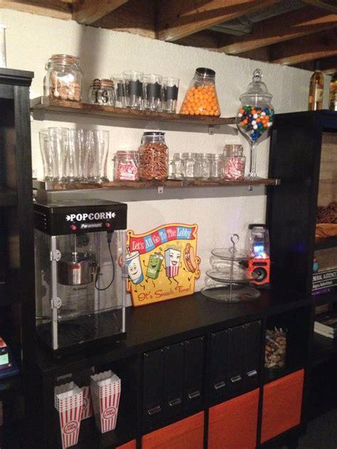 basement snack bar    home  theater