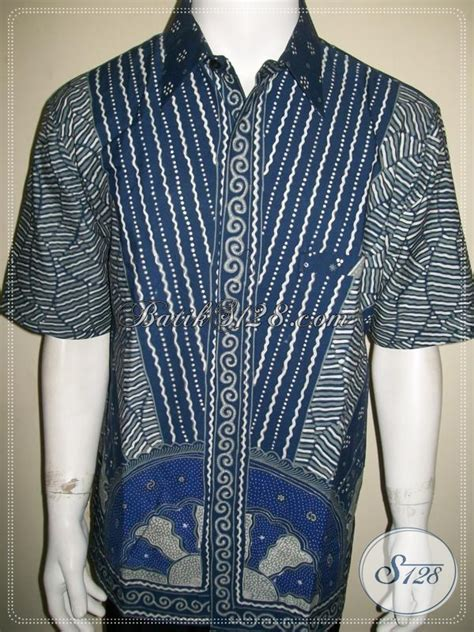 Blus Batik Biru Xl batik pria biru elegan dan exclusive batik tulis