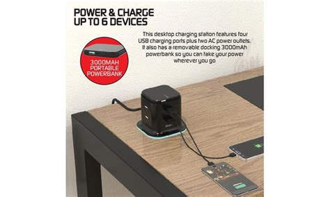 Power Bank Advance S11 3000 energizer 3 in 1 desktop charging station w 3000mah