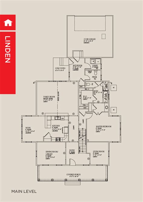 Linden Floor Plan by Linden New Homes Utah