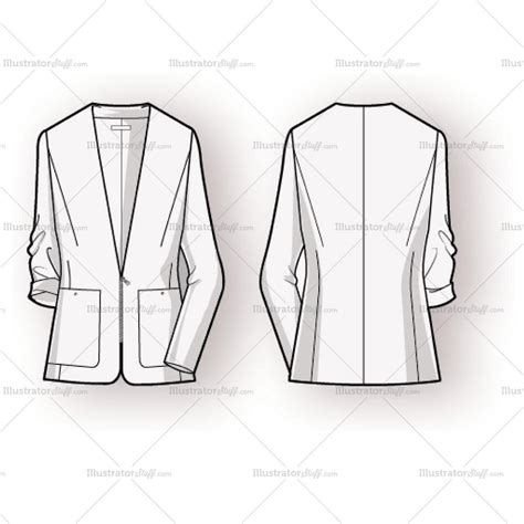 fashion illustration flat drawing s blazer fashion flat template templates for fashion