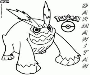 pokemon coloring pages gigalith darmanitan the blazing pok 233 mon fire pok 233 mon evolves