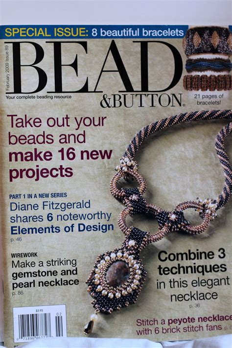 button magazine bead and button magazine fwbruary 2009 by butterflyjewelrysupp