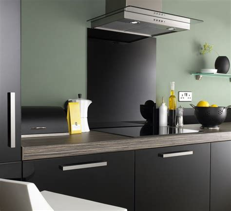 appealing kitchen designs    black splashback