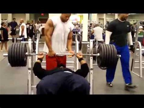 ct fletcher bench press record hulk gives 655 a good push mp4 youtube