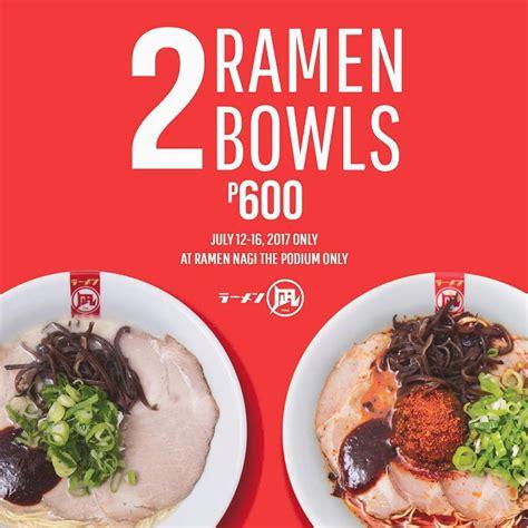 Ramen Nagi ramen nagi podium 2 bowls for php600 manila on sale
