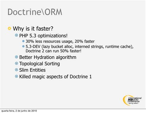 doctrine 2 hydration ipc2010se doctrine2 enterprise persistence layer for php
