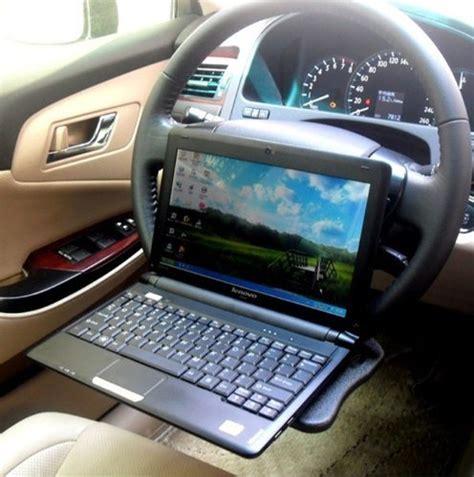 Zone Tech Multi Functional Portable Car Laptop Eating Laptop Steering Wheel Desk
