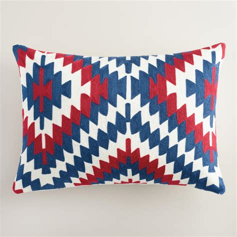 Americana Pillows by Americana Embroidered Lumbar Pillow World Market
