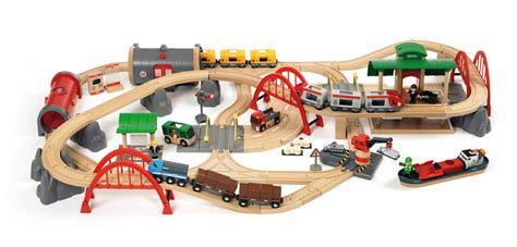 brio wooden train set brio deluxe railway set