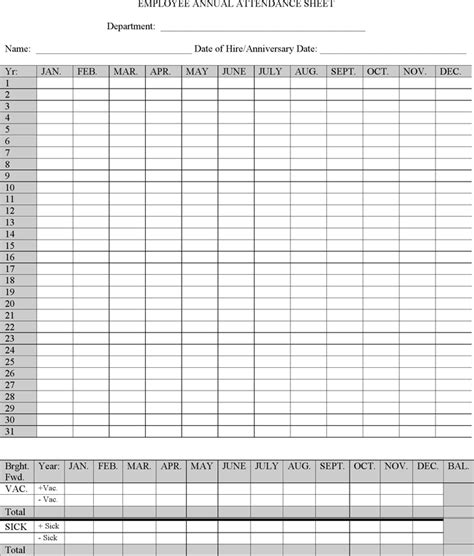 employee attendance sheet tracker top form templates