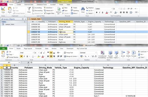 Excel Query Table export a large access table query to excel my engineering world