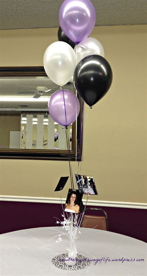 balloon centerpieces for tables purple black and white sweet sixteen a southern s
