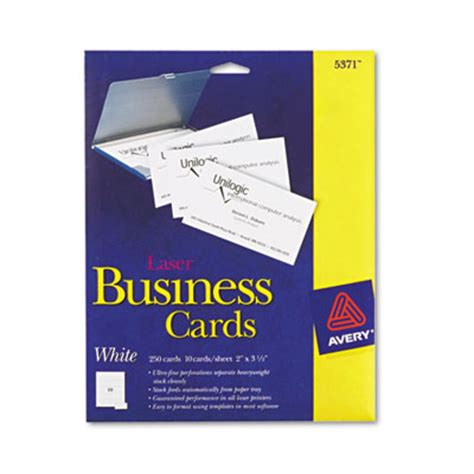 Avery Templates Business Cards 8471 by Avery 5371 Standard Printable Microperforated Business Cards