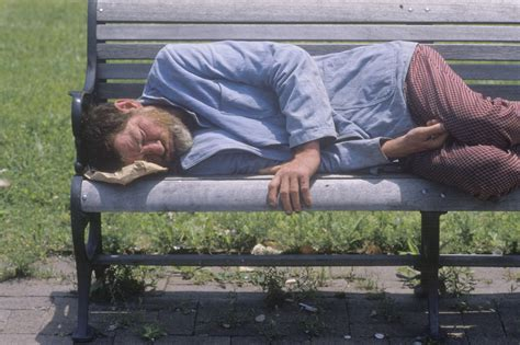 hobo on a bench 16 poorest small cities in america 2015 list insider monkey
