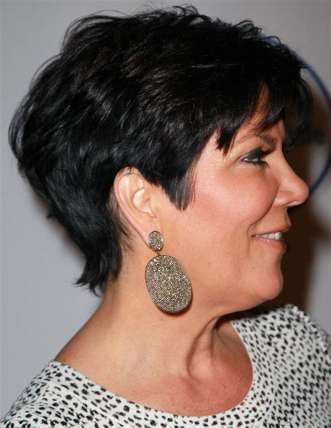 kris jenner hairstyles front and back kris jenner hair cut full view front and back short