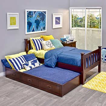 costco trundle bed cameron twin trundle bed