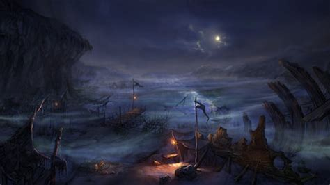 dark village wallpaper dark fishing village fantasy abstract background