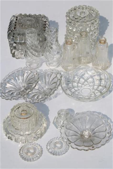 chandelier bobeche suppliers vintage pressed glass l bases parts lot bobeches for chandeliers hanging lights