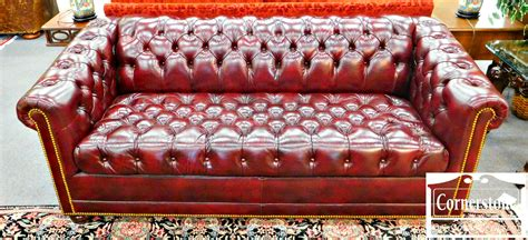 hancock leather chesterfield sleeper sofa just arrived baltimore maryland furniture store