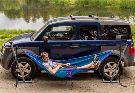Hammock In Car eno roadie hammock stand lets you sway wherever you park