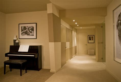 finished basement with studio