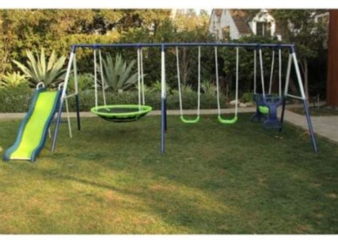 swings and slides for kids outdoor swing set playground metal kids children play
