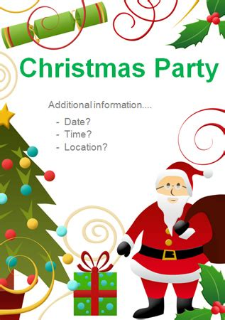 christmas party editable poster 4 free early years