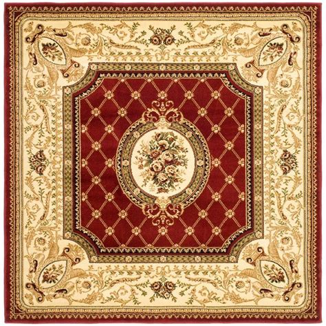 Safavieh Lyndhurst Red Ivory 6 Ft X 6 Ft Square Area Rug 6 X 6 Area Rugs