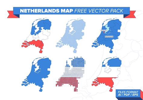 netherlands map eps netherlands map free vector pack free vector