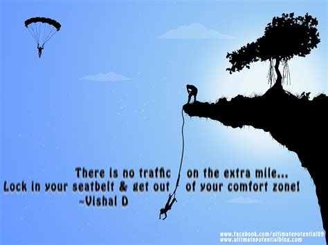 There Is No Comfort In The by Inspiring Quote Ultimate Potential