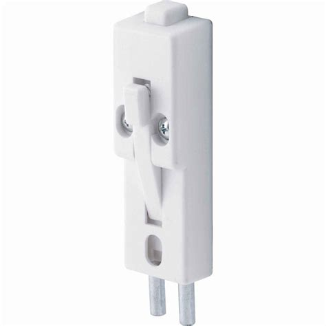 prime line 1 4 in diameter patio door lock white u 9868