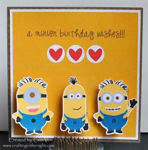 minions birthday cards crafting in the minion birthday card wobbles
